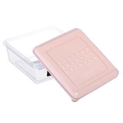 861-216 Емкость для хранения продуктов PATTERN, квадратный, 0,5л, пластик, цвета: мята, пудра