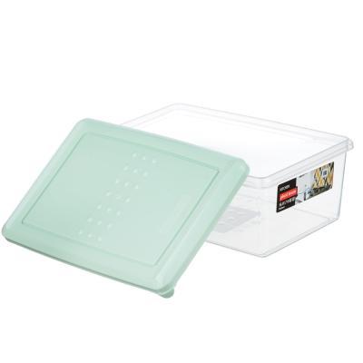 861-218 Емкость для хранения продуктов 1,05 л PATTERN, пластик, цвета: мята, пудра