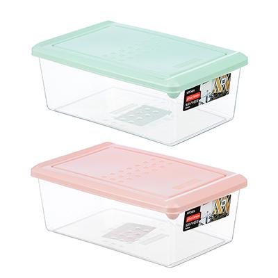 861-218 Емкость для хранения продуктов PATTERN, прямоугольный, 1,05л, пластик, цвета: мята, пудра