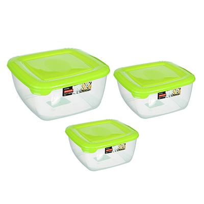 861-229 Набор емкостей для продуктов POLAR, квадратные, 3 шт, 0,95л, 1,5л, 2,5л, арт. РТ1680