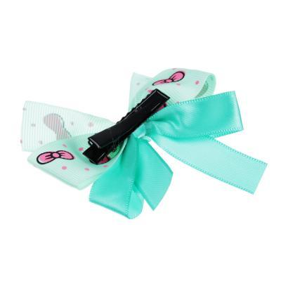 316-307 Набор детский для волос: ободок 0,5 см, заколка-зажим 2шт. 4 см, полиэстер, сплав, 6 цветов