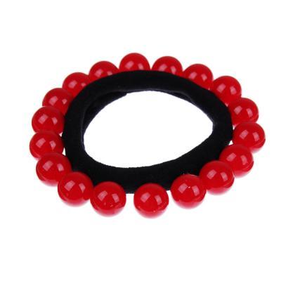 316-310 Резинка для волос, полиэстер, пластик, d5 см, 4 цвета