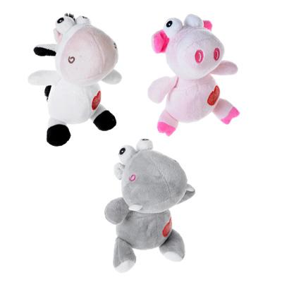 264-183 МЕШОК ПОДАРКОВ Игрушка мягкая в виде животных с сердечком, 16см, плюш, 3 дизайна