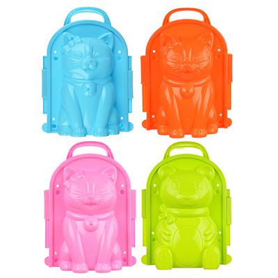 084-007 Формочка для лепки снежных фигур, пластик, 22х16см, 5 дизайнов, 4 цвета, SILAPRO