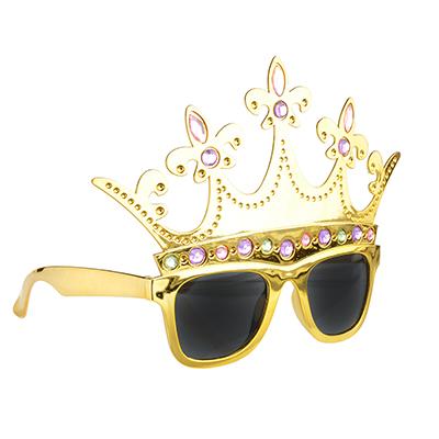 391-197 Очки карнавальные, пластиковые, 19,5х14 см, в форме короны, СНОУ БУМ