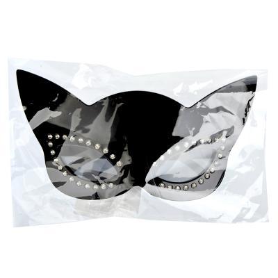 391-206 СНОУ БУМ Очки карнавальные, пластиковые, 21х10,5 см, в форме кошки