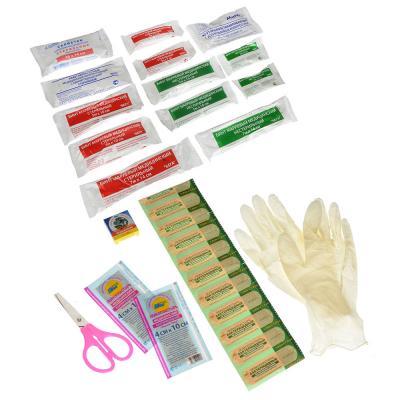 761-003 Аптечка, кейс (Соответствует приказу Минздравсоцразвития), пластик, 16,5x16,5x6,8см, черная