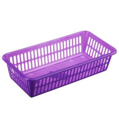 406-139 Корзинка Альфа S 20x10x5см, пластик, 2 цвета