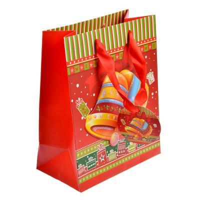 369-323 СНОУ БУМ Пакет подарочный, 18,5х23х10 см, 3D с глиттером, бумага высокого качества, 4 вида, арт.0305