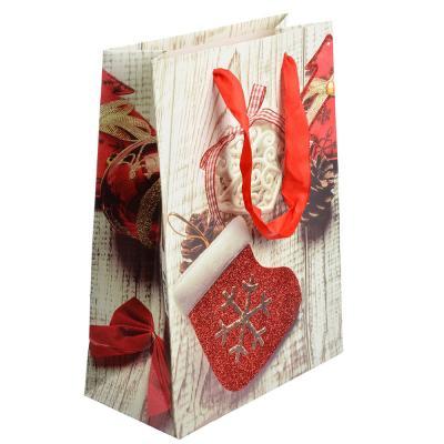 369-329 СНОУ БУМ Пакет подарочный, 24х18х8,5 см, бумага высокого качества с глиттером, 4 вида, арт.0311