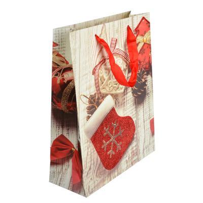 369-330 СНОУ БУМ Пакет подарочный, 26х32х10 см, бумага высокого качества с глиттером, 4 вида, арт.0312