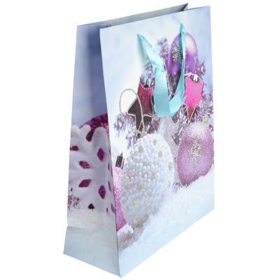 369-337 СНОУ БУМ Пакет подарочный, 26х32х10 см, бумага высокого качества с глиттером, 4 вида, арт.0319