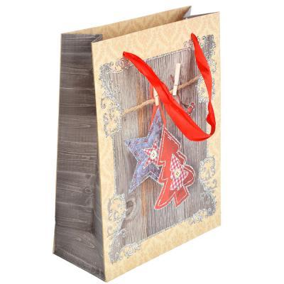 369-342 СНОУ БУМ Пакет подарочный, 18х24х8 см, бумага высокого качества с глиттером, 4 вида, арт.0324