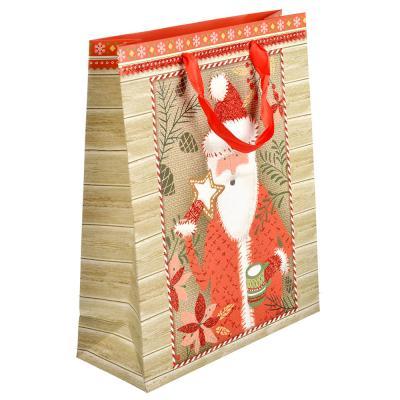 369-346 СНОУ БУМ Пакет подарочный, 26х32х10 см, бумага высокого качества с глиттером, 4 вида, арт.0328