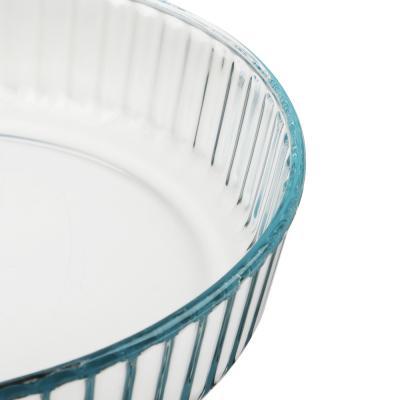 825-009 Форма для запекания жаропрочная, рельефный бортик, стекло, SATOSHI