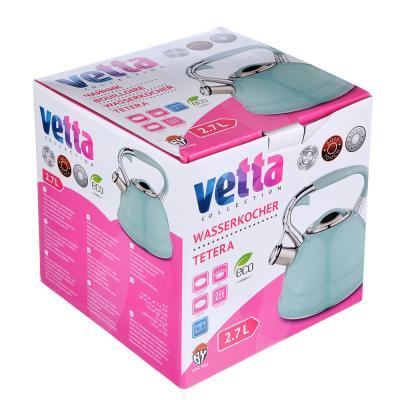 """847-069 VETTA Чайник стальной 2,7л, индукция, бирюзовый, """"Глянец"""""""