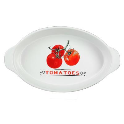 """820-649 Форма для запекания и многослойных салатов овальная, с ручкой, керамика, 35.5х20.5х6 см, MILLIMI """"Ве"""