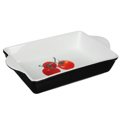 820-650 Форма для запекания и многослойных салатов прямоугольная, с ручкой, керамика, 28х17.5х5 см, MILLIMI