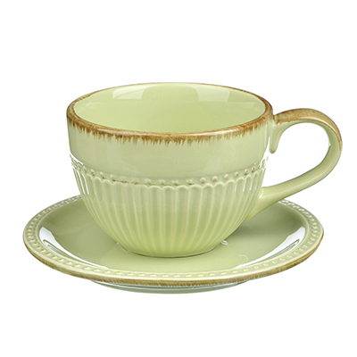"820-679 Чайный сервиз 2 предмета, керамика, MILLIMI ""Олива"""