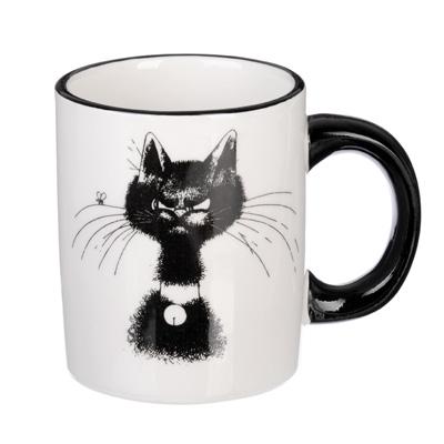 820-700 MILLIMI Черный кот Кружка 300мл, керамика