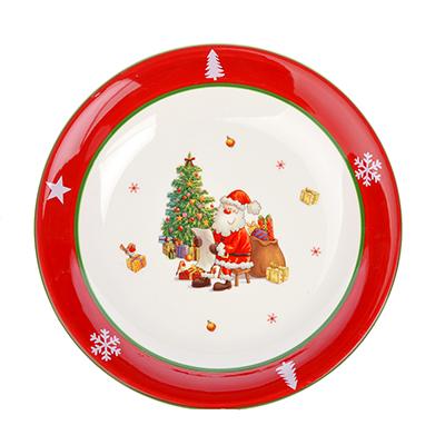 820-721 MILLIMI Новый год Блюдо круглое, 33х6см, керамика