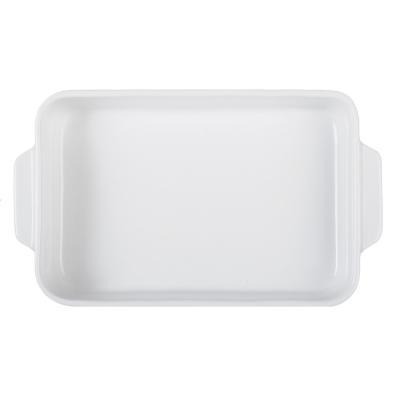 826-266 MILLIMI Жемчуг Форма для запекания и сервировки прямоугольная с ручками, 27х16х4.5см, белая