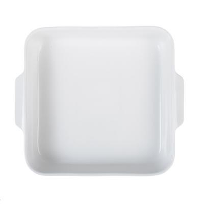 826-267 Форма для запекания MILLIMI Жемчуг, 26.5х23х5 см, квадратная с ручками, белая