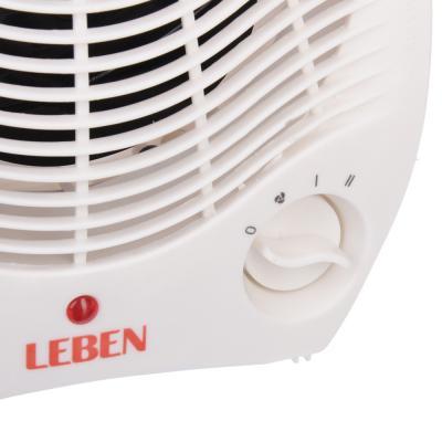 244-001 LEBEN Тепловентилятор NSB-200A ,2 режима, 1000/2000Вт, термостат, защита от перегрева, индик. вкл.