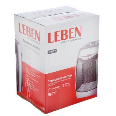 244-004 LEBEN Тепловентилятор с керамическим нагревательным элементом HL-902CL, 750/1500Вт