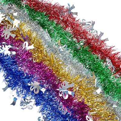 377-323 СНОУ БУМ Мишура 9x200см, ПВХ, 6 цветов, арт4