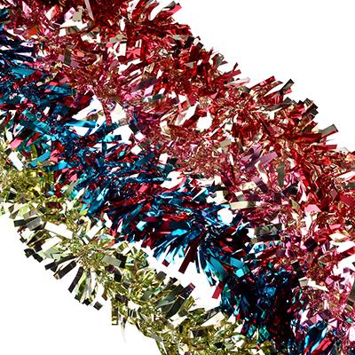 377-327 СНОУ БУМ Мишура 9x200см, ПВХ, 4 цвета, арт8