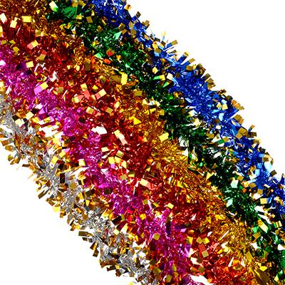 377-329 СНОУ БУМ Мишура 7x200см, ПВХ, 6 цветов, арт10