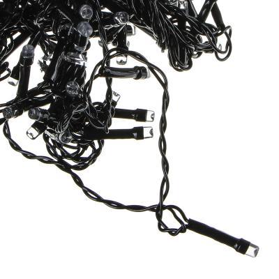 351-487 Гирлянда электрическая Вьюн СНОУ БУМ 10м, 100 LED, аква, мерцание 10LED, ПВХ провод, 220В