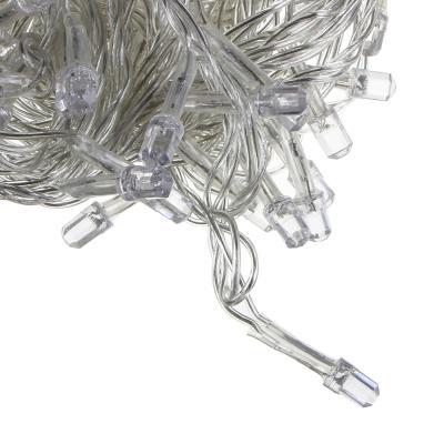 351-490 СНОУ БУМ Гирлянда электр. вьюн 9м, 100LED-алмаз, изумруд, 8 реж, прозр. провод, 220В