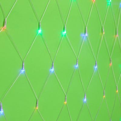 351-496 Гирлянда светодиодная сетка СНОУ БУМ 224 LED, 2x2м, 8 режимов, ПВХ прозрачный провод, 220В