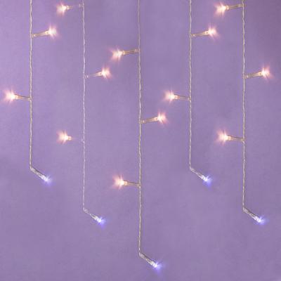 382-027 Гирлянда светодиодная Бахрома СНОУ БУМ 2,5x0,3х0,5x0,7 м, 80 LED, шампань, 220В