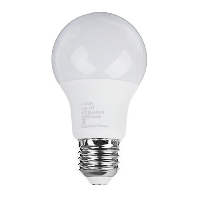 Лампа светодиодная A60 9W, E27, 806lm, 6500К