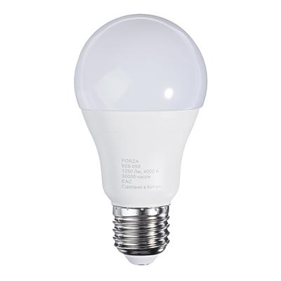 925-058 Лампа светодиодная FORZA A60, 14W, E27, 1250lm, 4000К