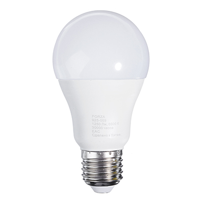 Лампа светодиодная A60, 14W, E27, 1250lm, 6500К
