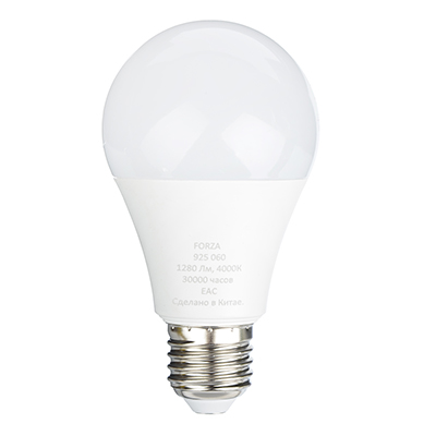 Лампа светодиодная A65, 16W, E27, 1280lm, 4000К
