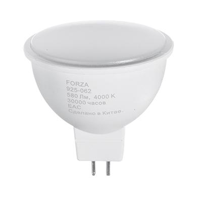925-062 FORZA Лампа светодиодная MR16, GU5.3, 8W, 580lm, 4000К