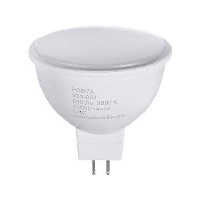 925-063 FORZA Лампа светодиодная MR16, GU5.3 8W, 580lm, 3000К