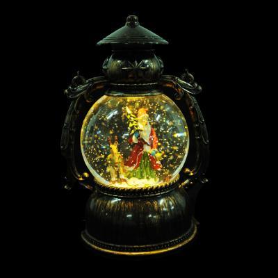 N01-006 СНОУ БУМ Светильник LED с водой и блестками, музыкальный, пластик, 20х11х11 см, 3хАА