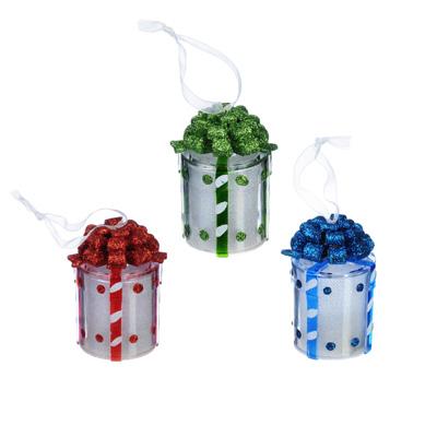N01-009 СНОУ БУМ Светильник LED, пластик, в виде подарка, 7,5х4 см, 3xAG13, 3 дизайна