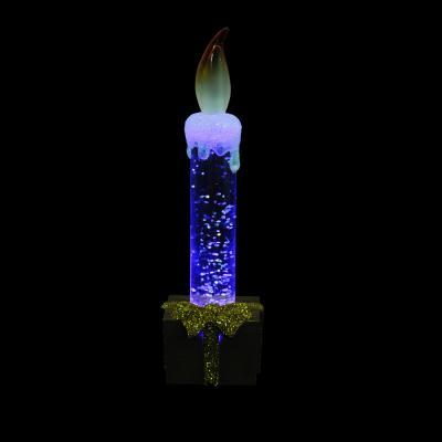 N01-010 Светильник LED с водой и блестками, пластик, в виде свечи, 15х4х4см, 3xAG10, 2 цвета