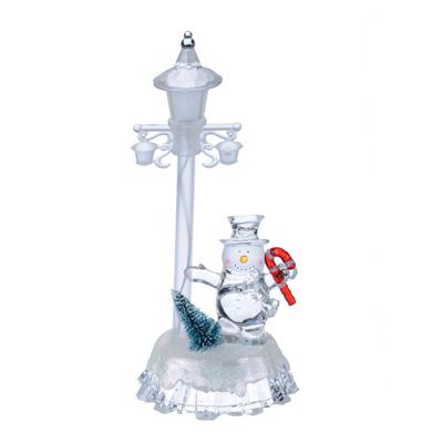 N01-020 СНОУ БУМ Светильник LED в виде снеговика, акрил, 9,5х8х19,5см, 3хLR44,  7 режимов свечения
