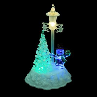N01-021 СНОУ БУМ Светильник LED в виде елки, акрил, 14х12х21,5см, 4хAAA, 1 режим свечения