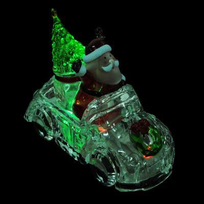 N01-022 СНОУ БУМ Светильник LED в виде машины, акрил, 22,5х10,6х17см, 3хAAA, 2 вида, 1 режим свечения