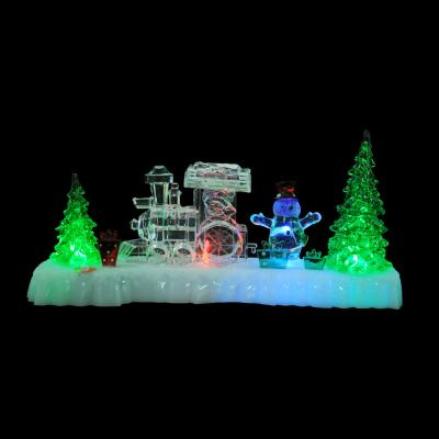 N01-023 СНОУ БУМ Светильник LED композиция, акрил, 31х8,5х14см, 3хAAA, 1 режим свечения