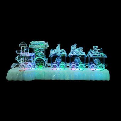 N01-024 СНОУ БУМ Светильник LED композиция, акрил, 31х8х11см,  3хAAA, 1 режим свечения